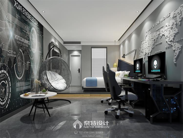 潜江温特电竞酒店 - 武汉餐厅装修设计-办公室装修--.